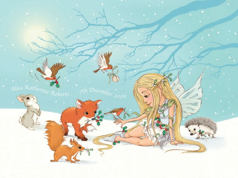 The Snow Fairy Personalised Print